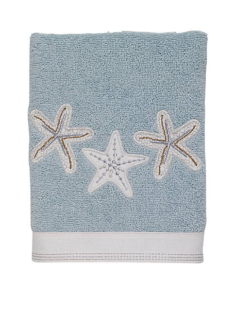 Avanti Sequin Shells Hand Towel 16-in. X 30-in.