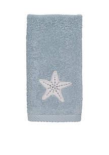 Sequin Shells Fingertip Towel 11-in. X 18-in.