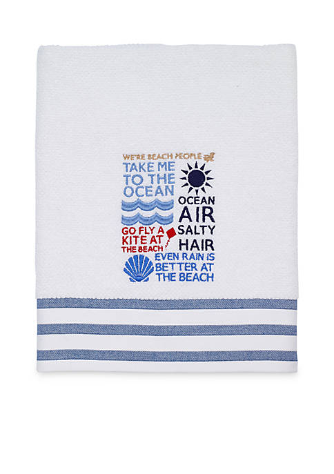 Avanti Beach Words Bath Towel 27-in. x 52-in.