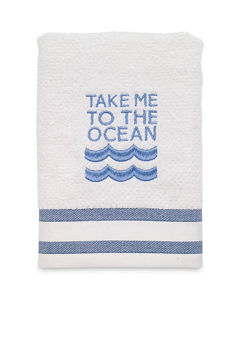Avanti Beach Words Hand Towel 16-in. x 28-in.