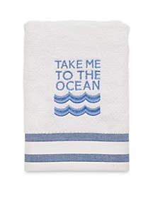 Beach Words Bath Towel Collection