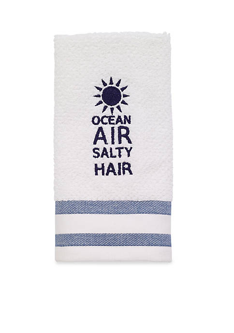 Avanti Beach Words Fingertip Towel 12-in. x 18-in.