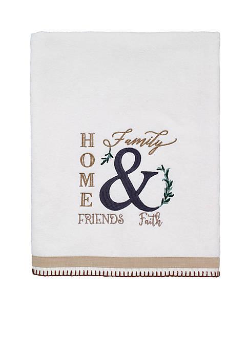 Avanti Modern Farmhouse Bath Towel