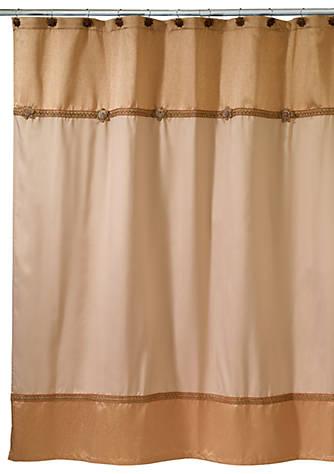 Avanti Braided Medallion Gold Shower Curtain | belk