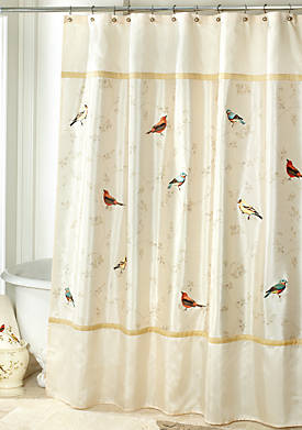 Gilded Birds Shower Curtain