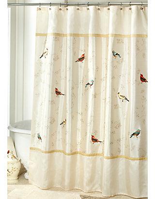 Avanti Gilded Birds Shower Curtain Belk, Avanti Shower Curtain