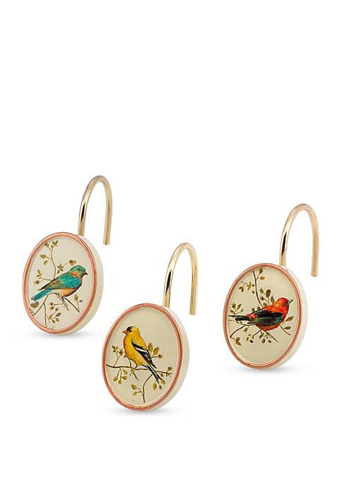 Gilded Birds Shower Curtain Hooks