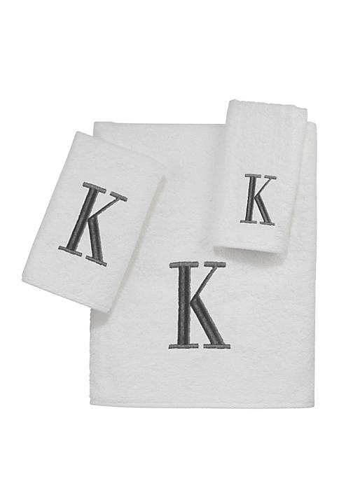 Block Monogram Bath Towel Collection