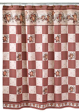 Avanti Hearts & Stars Multi-color Shower Curtain | belk