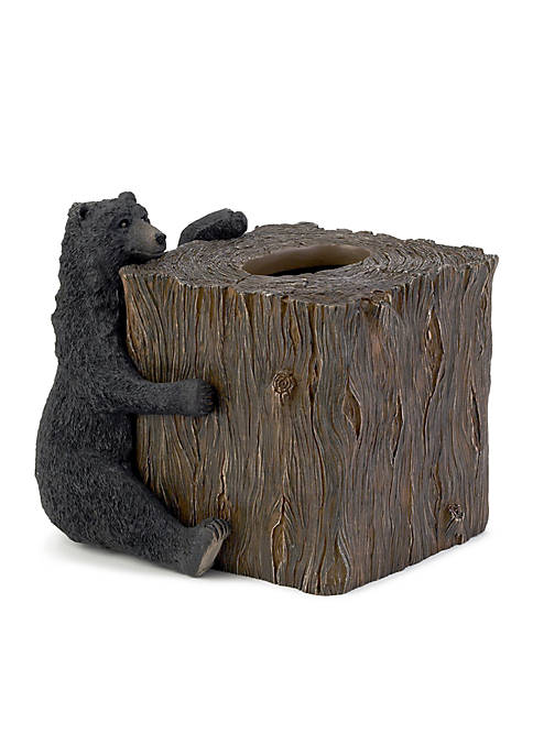 Avanti Black Bear Lodge Tissue Box