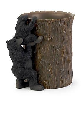 Black Bear Lodge Wastebasket