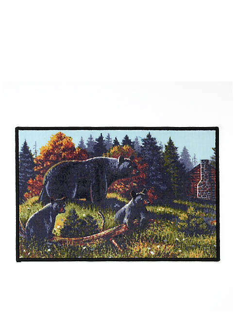 Black Bear Bath Rug