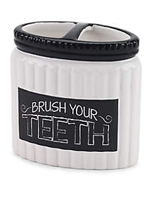 Chalk it Up Toothbrush Holder 4.12-in. x 2.26-in. x 4.25-in.