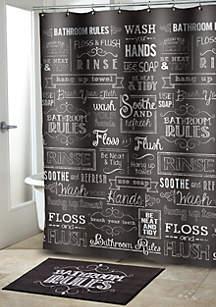 Chalk It Up Shower Curtain