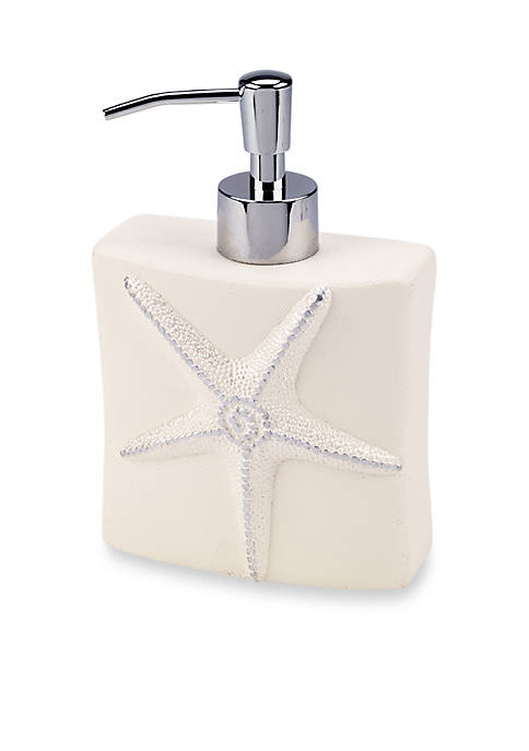 Avanti Sequin Shells Lotion Dispenser 2.5-in. X 4.5-in.