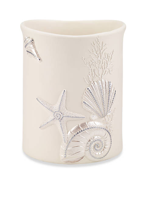 Sequin Shells Wastebasket 8-in. X 8-in. X 10-in.