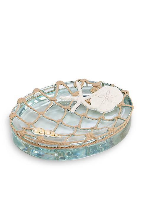 Sea Glass Soapdish 5.3-in. x 4.3-in. x 1-in.