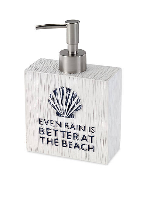 Avanti Beach Words Lotion Dispenser 4.3-in. x 2-in.