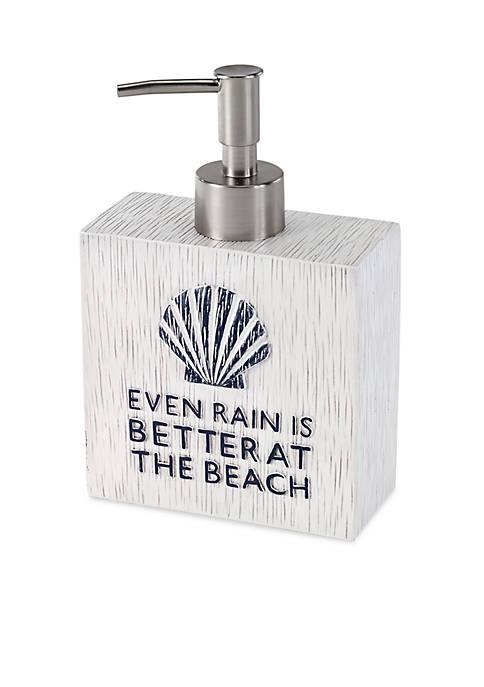 Avanti Beach Words Lotion Dispenser 4.3-in. x 2-in.