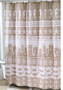 Avanti Sea And Sand Shower Curtain 72 In X