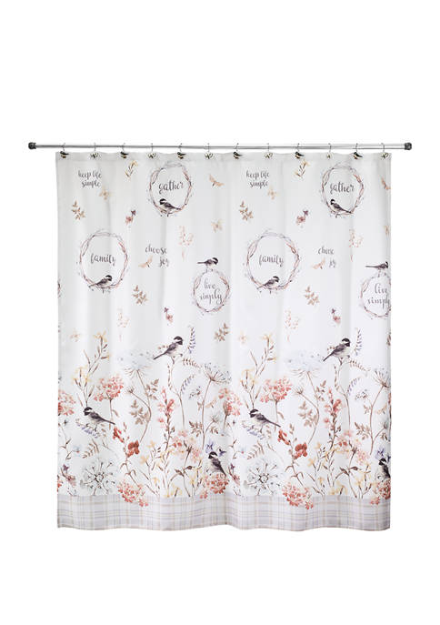 72 in x 72 in Live Simply Shower Curtain