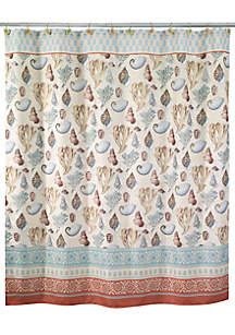 Seabreeze Multicolor Shower Curtain