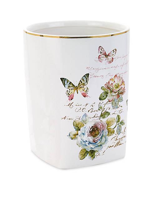Avanti Butterfly Garden Wastebasket