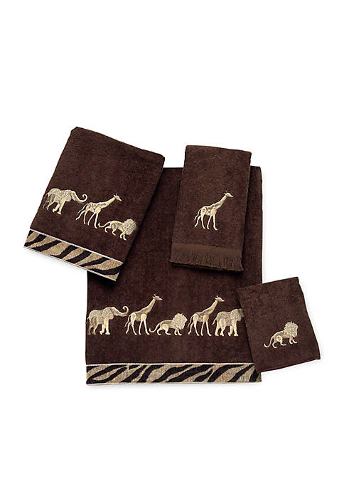 Avanti Animal Parade Fingertip Towel 11-in. x18-in.