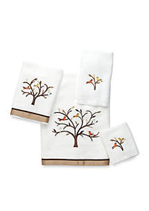 Friendly Gathering White Bath Towel Collection - Online Only
