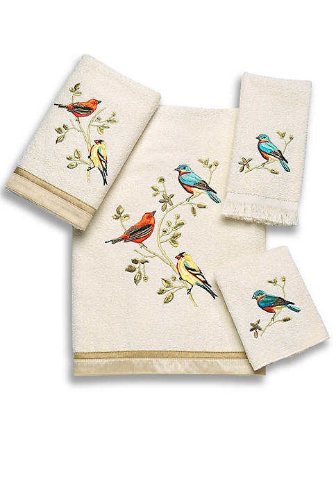 Avanti Gilded Bird Towel Collection