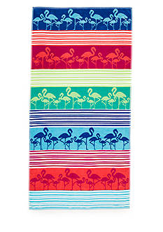 Home Accents® Linear Flamingo Beach Towel