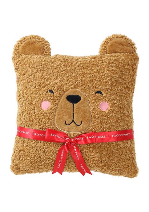 FAO Schwarz Curly Bear Pillow