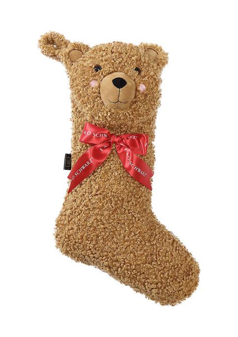 FAO Schwarz Curly Bear Stocking