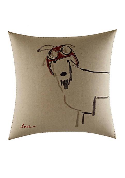 Ellen DeGeneres Goat with Helmet Pillow