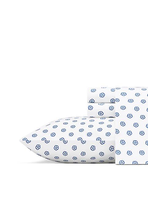 Fiorella Blue Queen Sheet Set