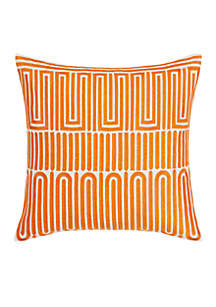 Racket Club Geo Throw Pillow