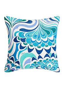 Avalon Lotus Embroidery Throw Pillow