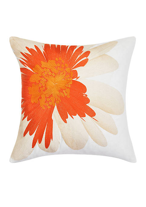 Palm Desert Daisy Throw Pillow