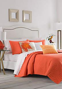 Palm Desert Orange Full/Queen Quilt Set