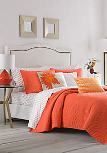 Palm Desert Orange King Quilt Set