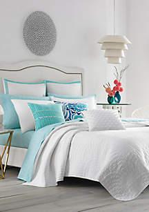 Trina Turk Palm Desert White Twin Quilt Set