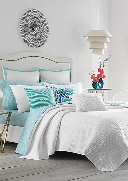 Palm Desert White Full/Queen Quilt Set