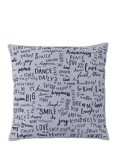Words Throw Pillow