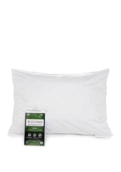 Sealy® AllerEase Cotton Zippered Breathable Pillow Protector