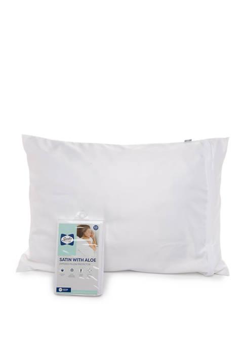 Satin with Aloe Zipper Pillow Protector