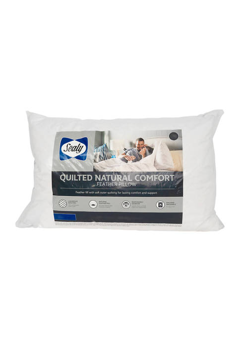 AllerEase® Quilted Natural Comfort Feather Pillow
