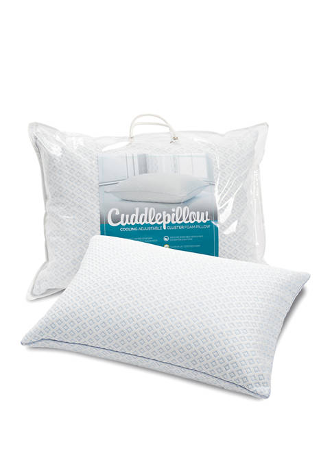 CuddlePillow Cooling Adjustable Cluster Foam Cuddle Pillow