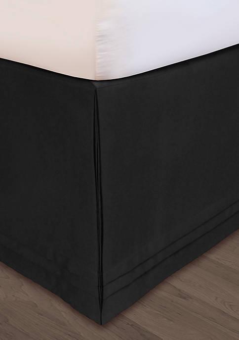 HUYS Adjustable Matte Satin King Bedskirt