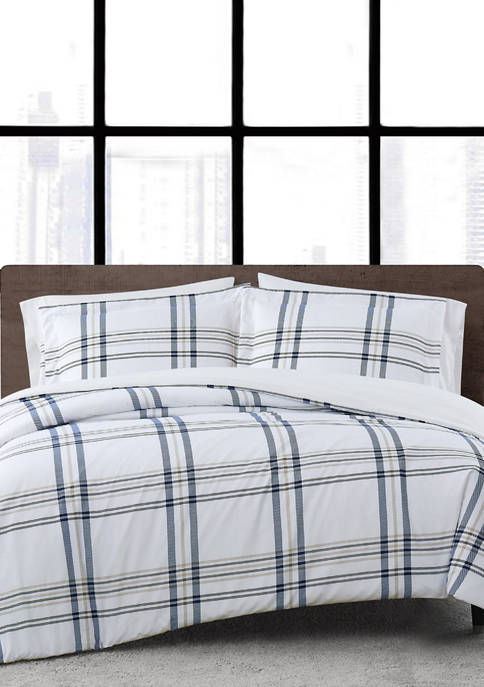 Kent Plaid Duvet Set