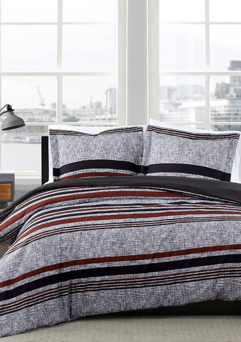 American Traditions™ Warren Stripe Duvet Set